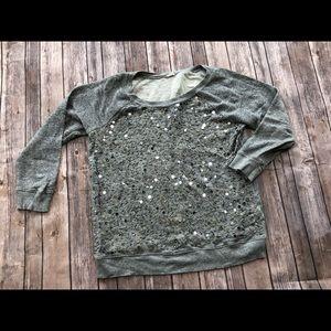 Jcrew sequin sweatshirt